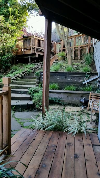 This is a photo of the private deck area outside the loft.