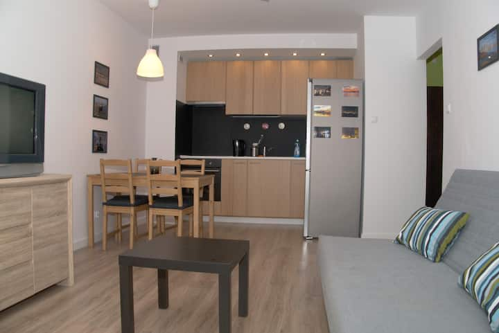 Komfortowe mieszkanie w spokojnej dzielnicy.