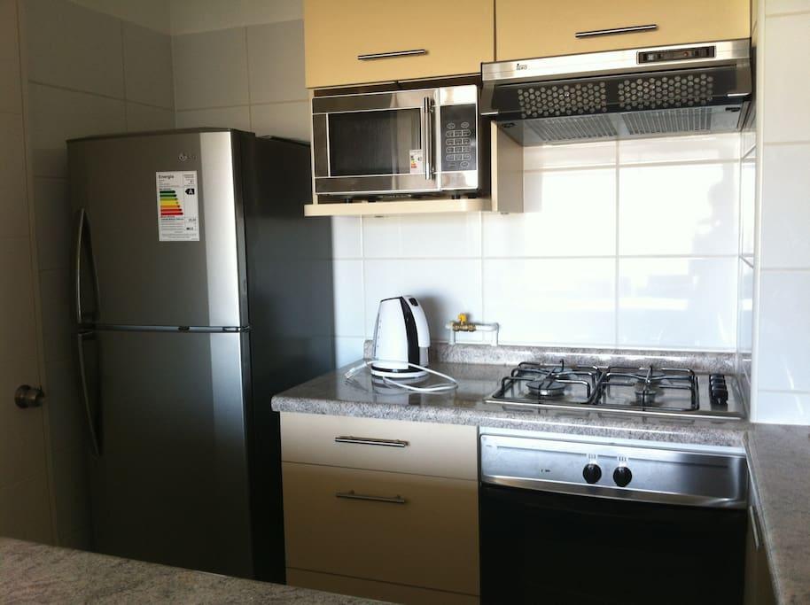 cocina amerciana equipada