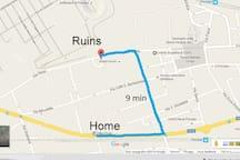 9 min at walk