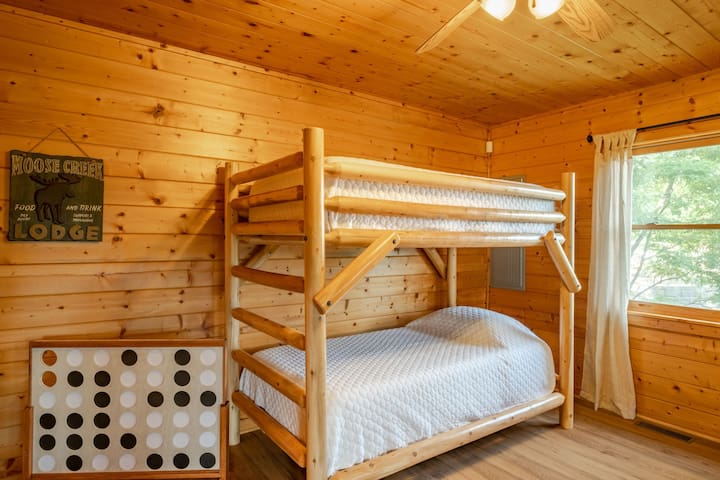 Bunk Room/Game Room has twin over twin bunk beds great for larger families!