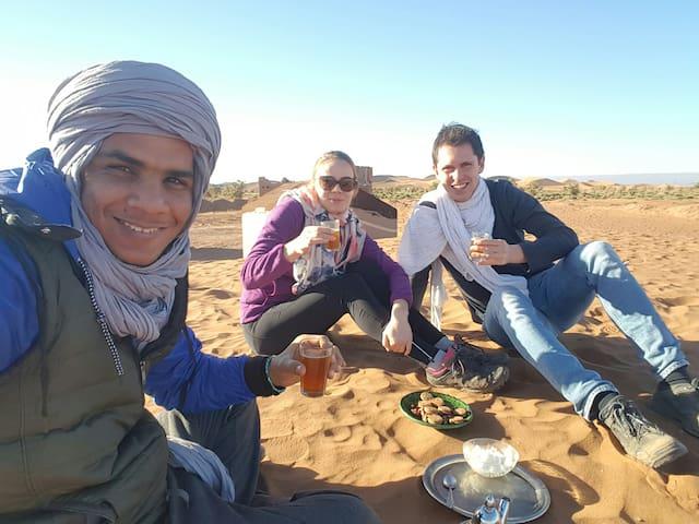 Hostel & desert activities,,