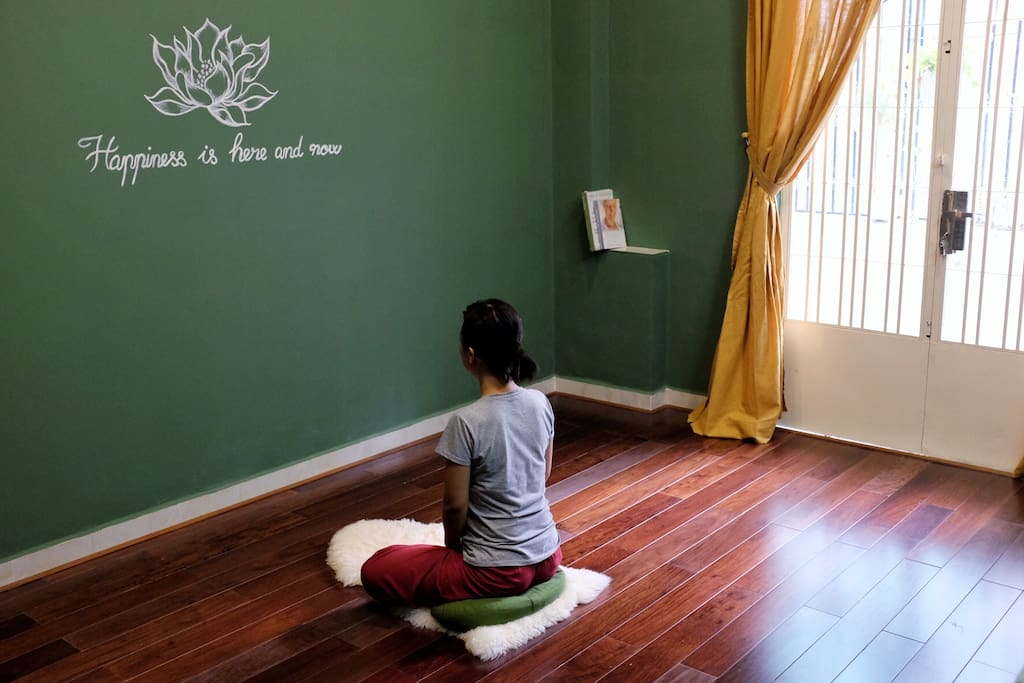 Breathing/meditation room: this is Tara culture to have a room called 'Happiness zone'. A retreat place for you to do the meditation. All you have to do is sit down and just breathe. Happiness is here and now.