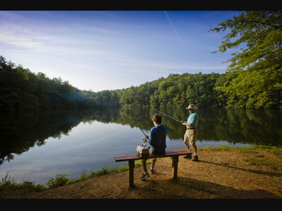 Fishing close by at the state park