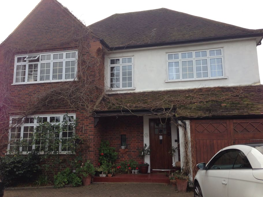 Large detached house with garden