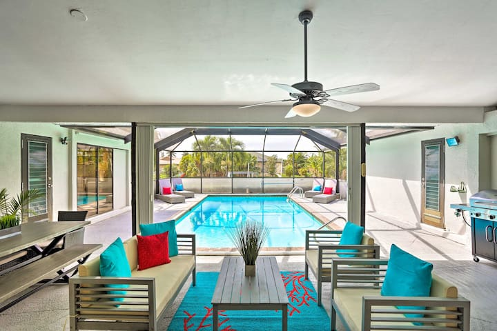 Modern Cape Coral Home w/ Pool, Dock & Gulf Access