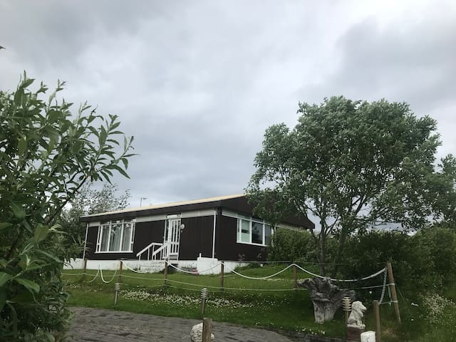 Our beautiful house on the island in the north