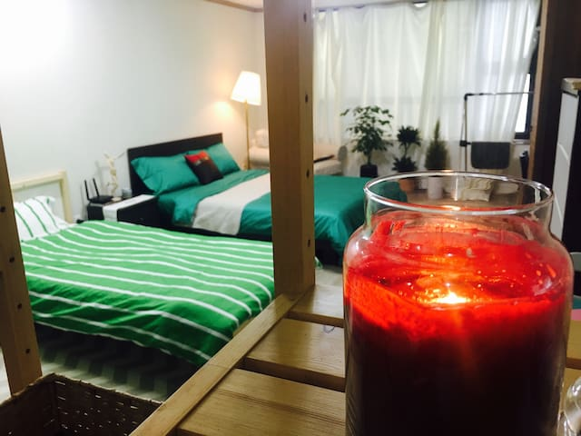 Downtown one room for 2~4 person  한라병원 맞은편 2~4인 원룸 - Yongdamil-dong, Jeju-si - Pis