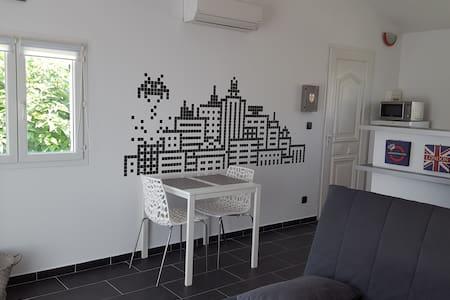 Studio climatisé 25 m2 avec balcon