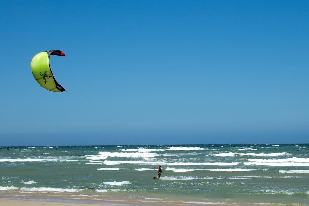 Great beach for windsurfing