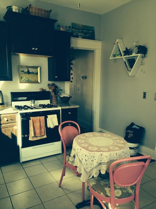 Kitchen with gas stove/oven