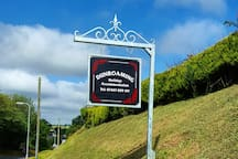 Look out for this sign as you just pass the welcome to Pendine sign.