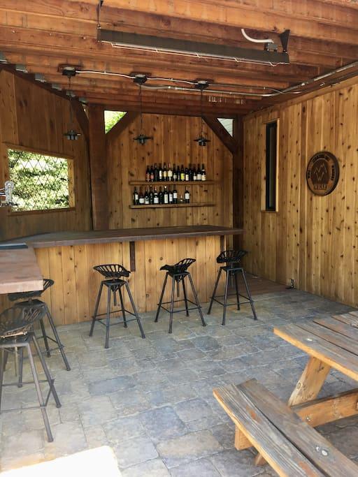 outdoor heated bar seats 9