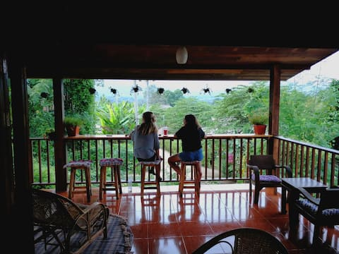 Mountain View Teak wood Room  with a Huge Terrace