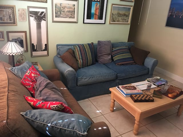 MIA apartment with free airport pickup & breakfast