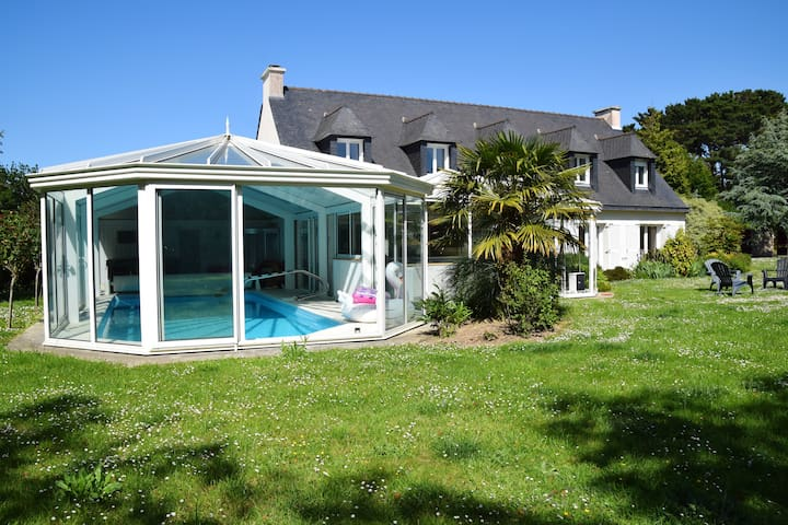 Villa with 7 bedrooms in Locquirec, with private pool, enclosed garden and WiFi - 200 m from the beach