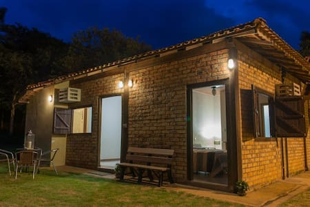 Pousada Aretê - Suite Sol - Chapada dos Guimarães - 小木屋