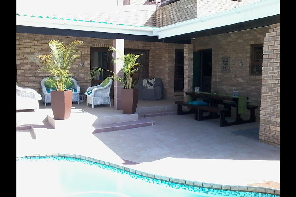 Shared swimming pool situated at the other unit