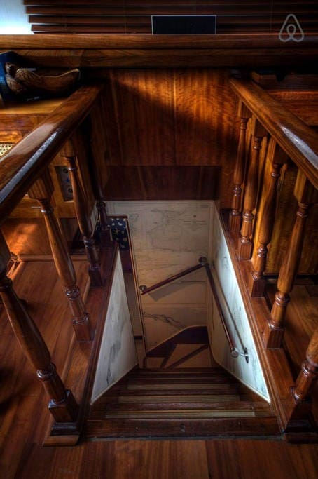 stairs to cabins