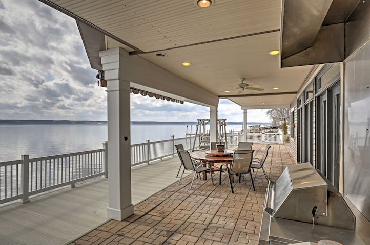 Waterfront 6BR Home on Cayuga Lake w/Scenic Views!