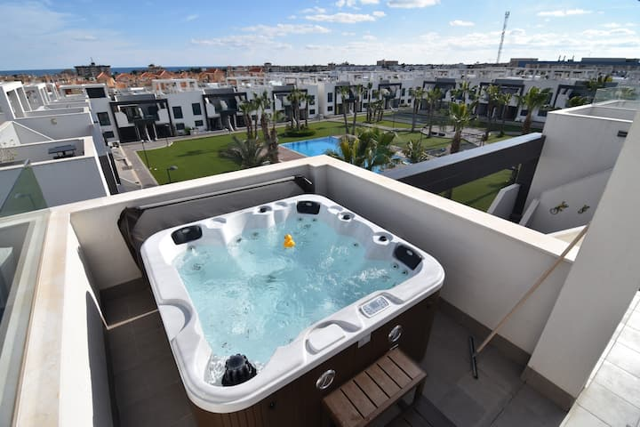 Oasis Beach II no 24 pool jacuzzi, La Zenia