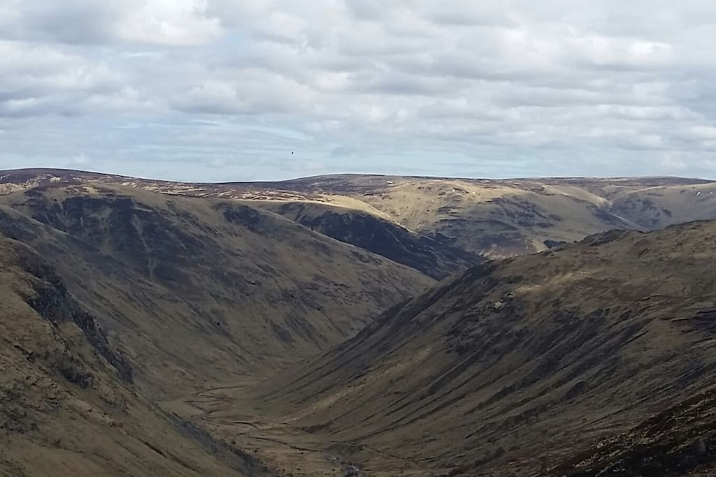 Bachnagairn and Glen Doll from the Cairngorm plateau