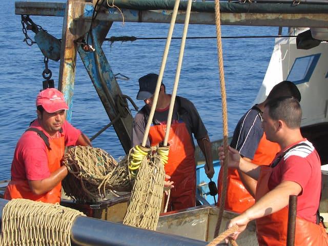 i marinai al rientro dalla pesca