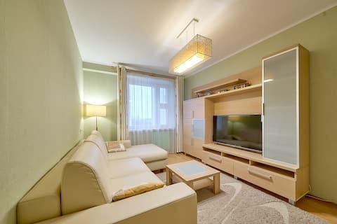 Уютная 2-комнатная квартира у яблоневого сада