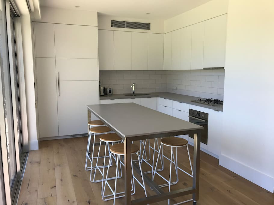 Fully equipped kitchen with European appliances