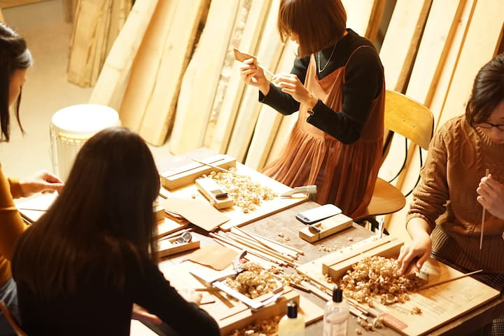 【202Private room for 3】Eat Stay&Make with hardwood