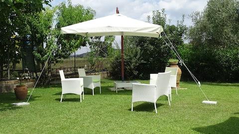 Mansarda con giardino a Capalbio