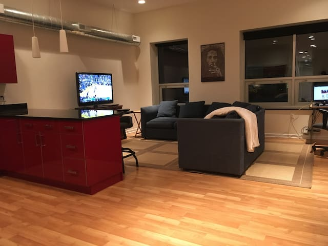 Spacious Loft w/ Private Room, Steps to Downtown! - Detroit - Loft