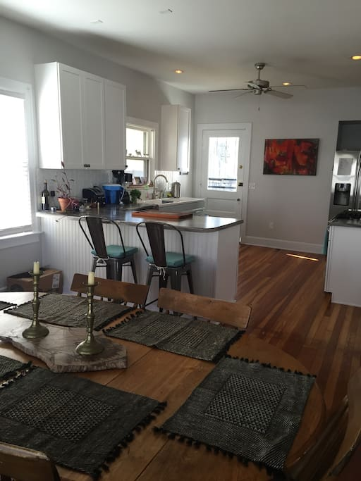 Open room from dining room to kitchen. Great for socializing!!!