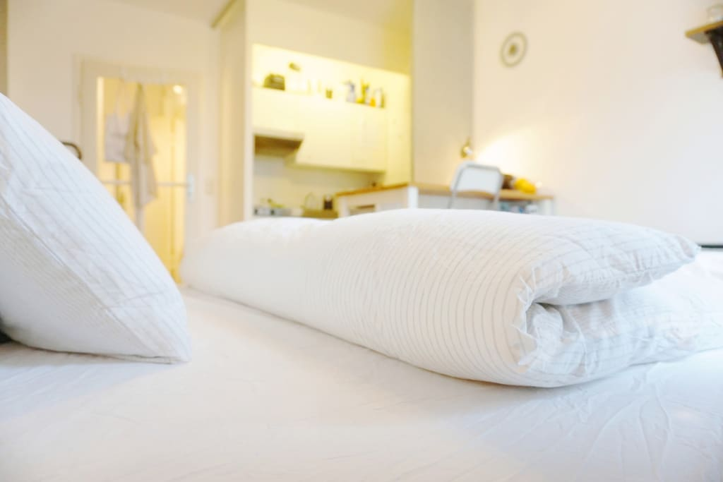 The double bed will be provided with fresh lining & sheets for you.