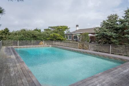 New Listing: Dune Road Home w/ Heated Pool, Hot Tub, Right-of-Way Beach Access, 2 Miles to Quogue