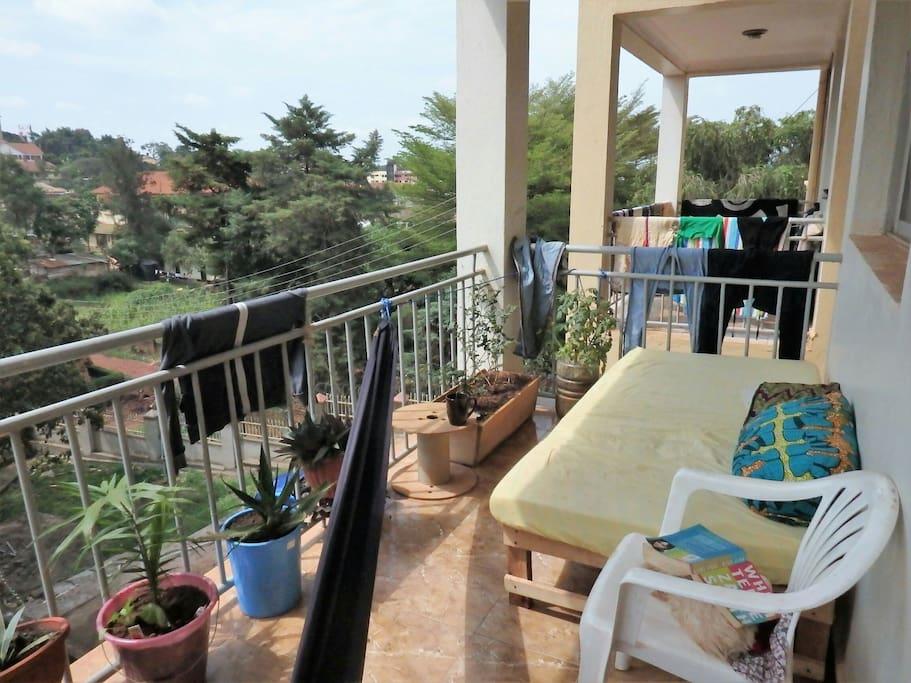 Front balcony.