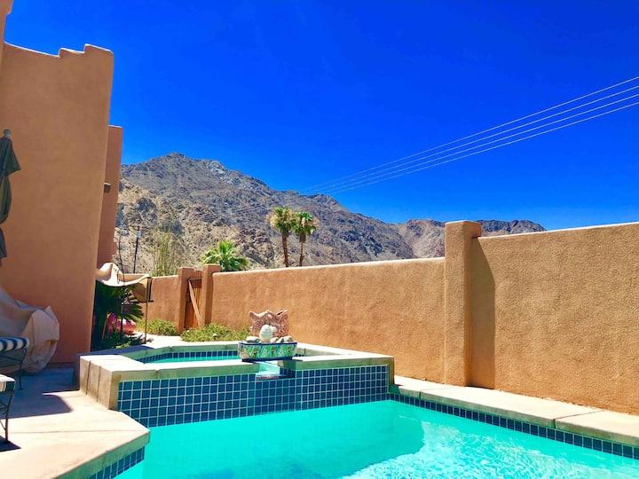 Santa Fe Retreat with pool,spa, & mountain views!