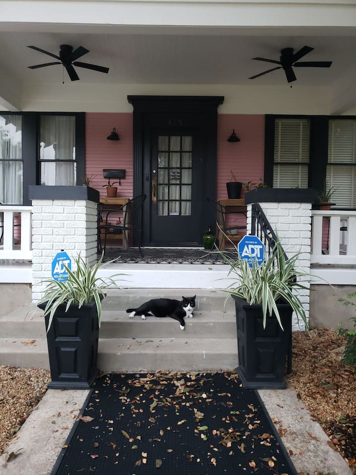 Cat friendly bungalow in Temple's Historic District. Close to downtown shopping and amenities.