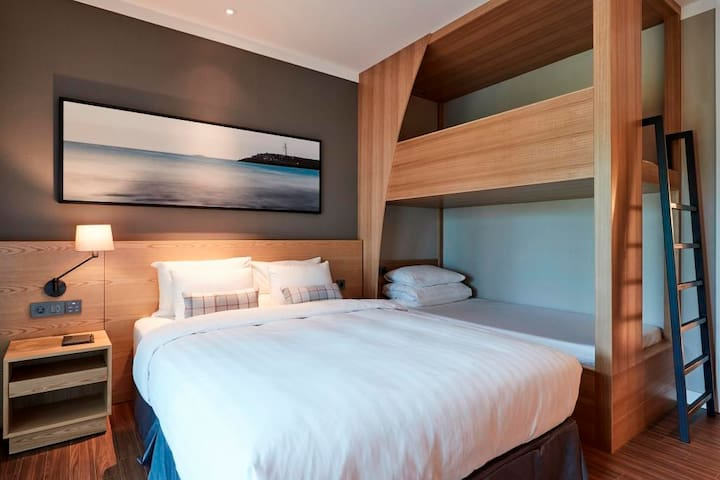 Family Terrace Bunk Room for 4pax @Jungmun