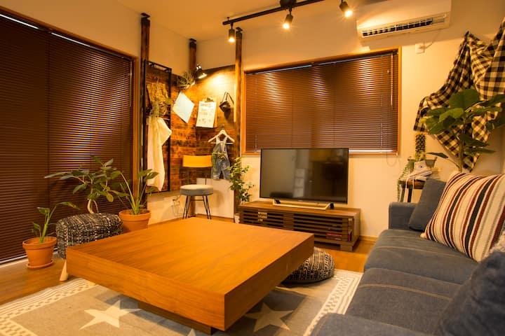 ヴィンテージアメリカンテイストでエスニックな雰囲気が味わえる一軒家★眺めやロケーションも最高!!