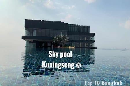 曼谷Chao Phraya River, Bangkok/天空泳池Sky pool/大皇宫/MRT