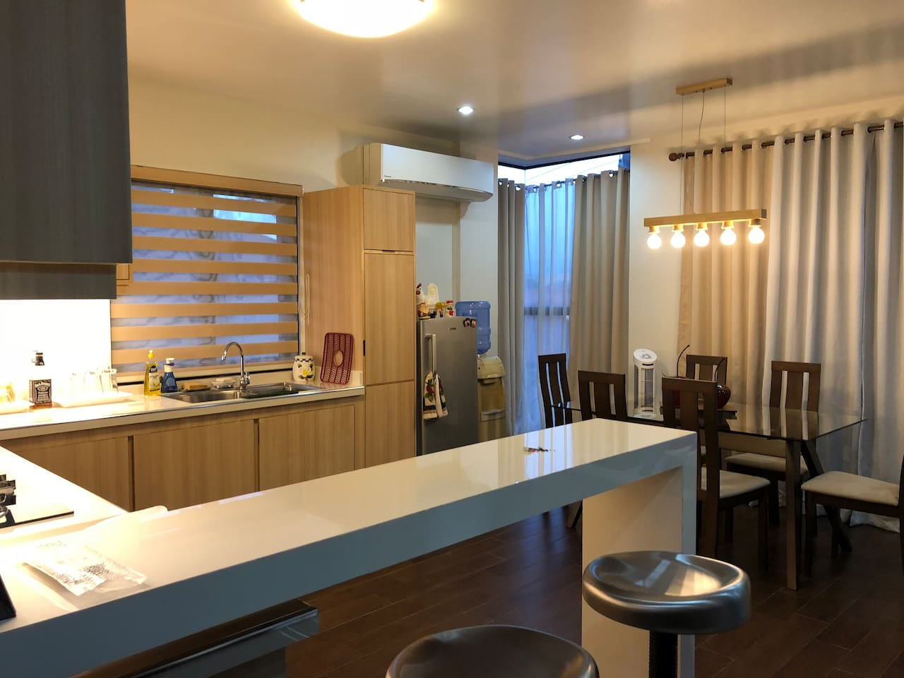 Kitchen and dining room with aircon