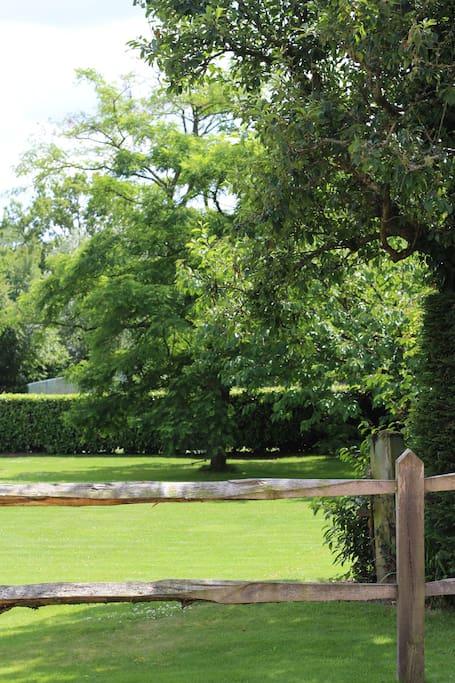 Surrounded by private gardens in the heart of the countryside