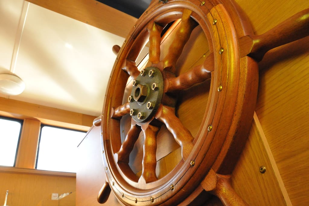 Explore the wheelhouse during your stay onboard