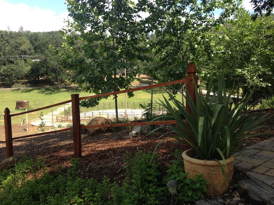3 acres to stroll with hot tub