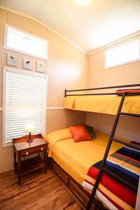 2nd Bedroom bunk bed and TV