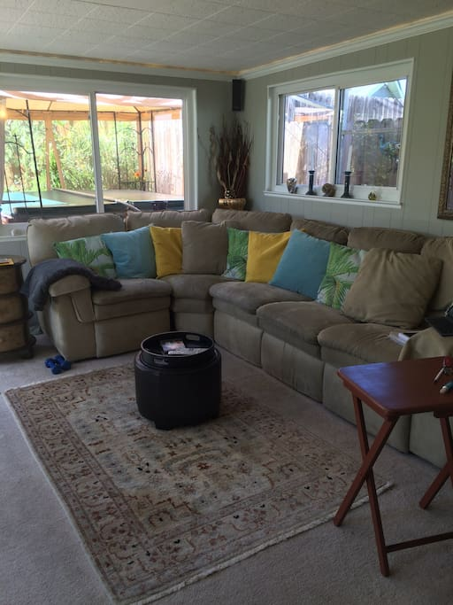Bright and cheerful TV room to share with other guests
