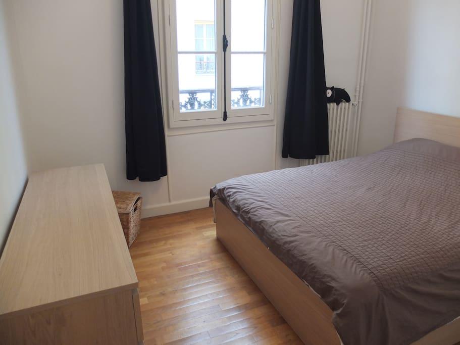 Quiet bedroom  with comfortable mattress