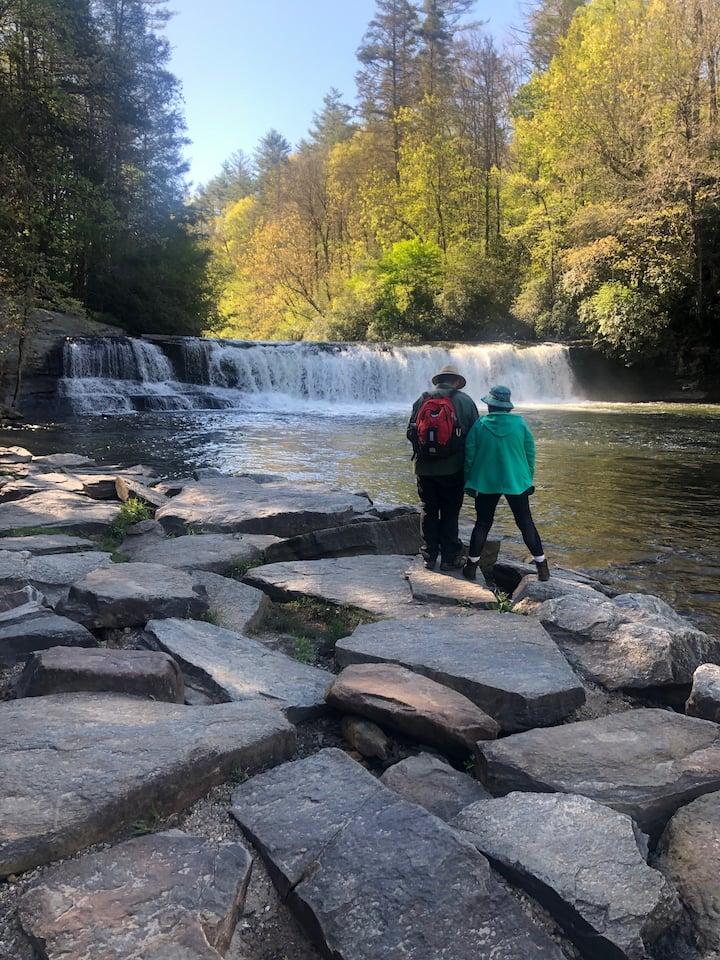 Beautiful! Waterfall safety is key.