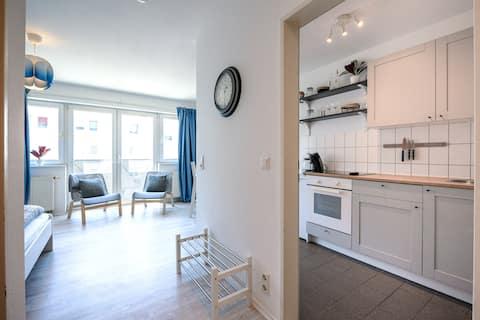 Helles Apartment in TOP-Lage mit Parkplatz